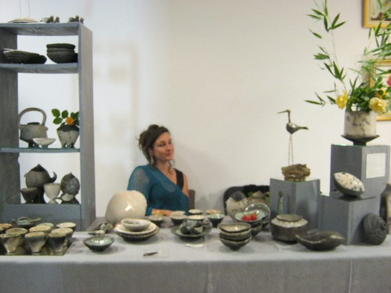 céramique raku raku nu terre polie enfumée